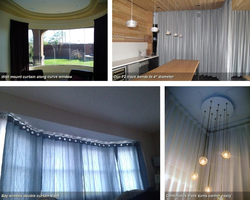 Buy Curtain And Drapery Tracks System Window Curtain Rods