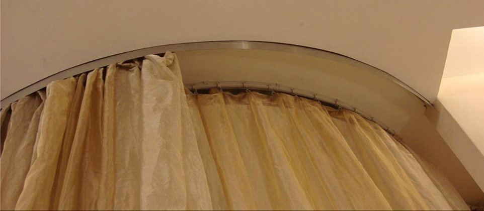 Flexible Ceiling Mounted Curtain Track Straight