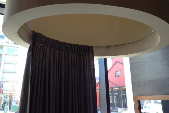 ceiling curtain rod