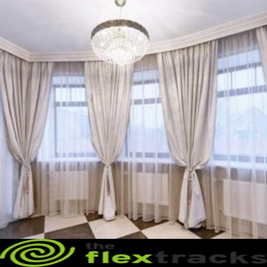 bay windows with curtain tracks