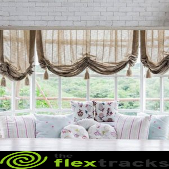 wall mounted curtain track